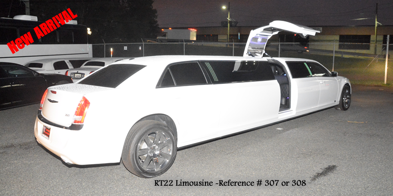 RT22 Limo NJ NEW Chrysler with Jet Door